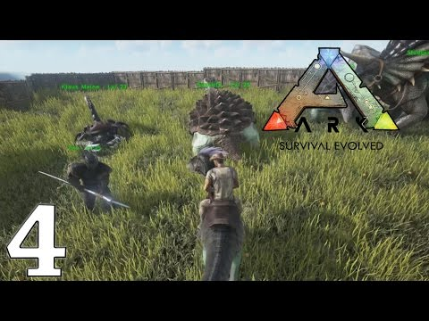 ARK Survival Evolved Gameplay - Mining Iron - Let's Play Ep4 (1080p 60 FPS)