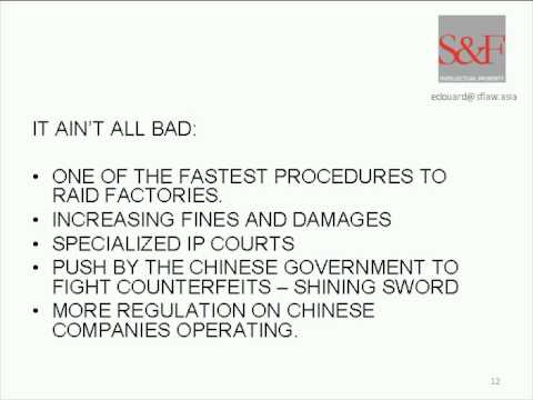 IPR Enforcement Fundamentals in China