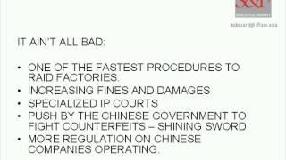 IPR Enforcement Fundamentals in China