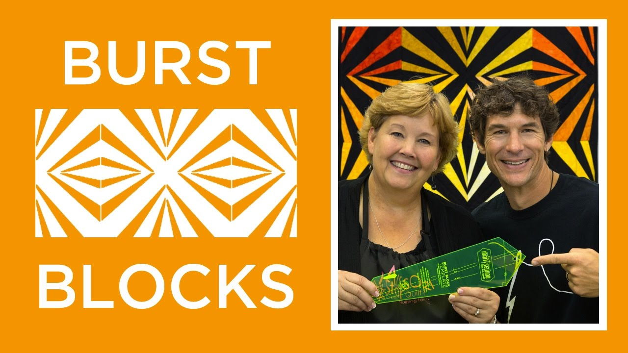 Make An Easy Burst Block Quilt With Jenny Doan Of Missouri Star Rob Video Tutorial
