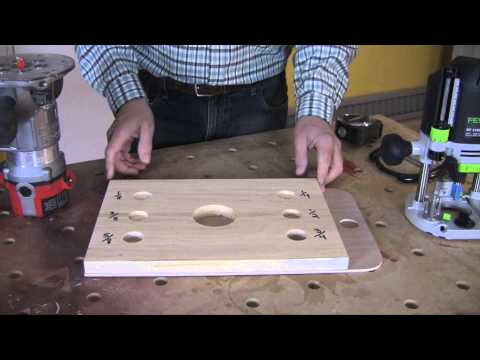 Using a Home-made Jig to Set Router Bit Depth