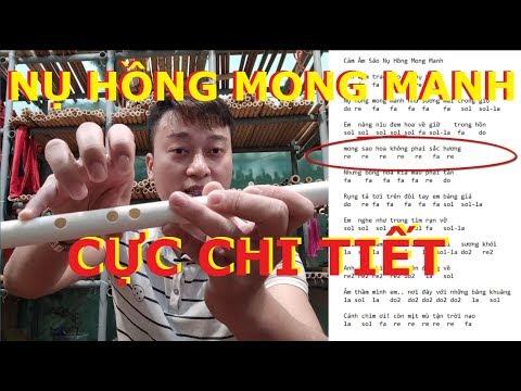 Nụ Hồng Mong Manh Hướng Dẫn Thổi Sáo La Trầm A4 | Học Thổi Sáo Cơ Bản | Sáo Trúc Họ Đinh