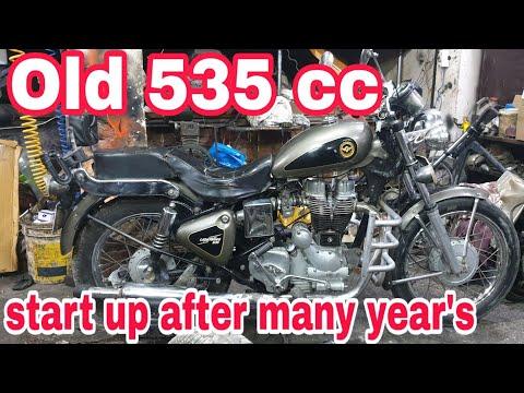 Old 535 cc model   start up   enfield lightning   ncr motorcycles  