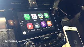 2016 Honda Civic  Apple CarPlay & Android Auto demo