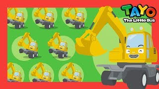 Learn colors with excavator l Let's Find the Real Poco l Tayo Car Songs l Tayo the Little Bus