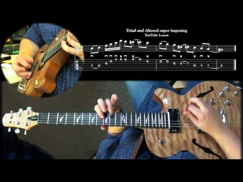 ADVANCED JAZZ GUITAR LESSON: Superimposing Triads and Altered Scale