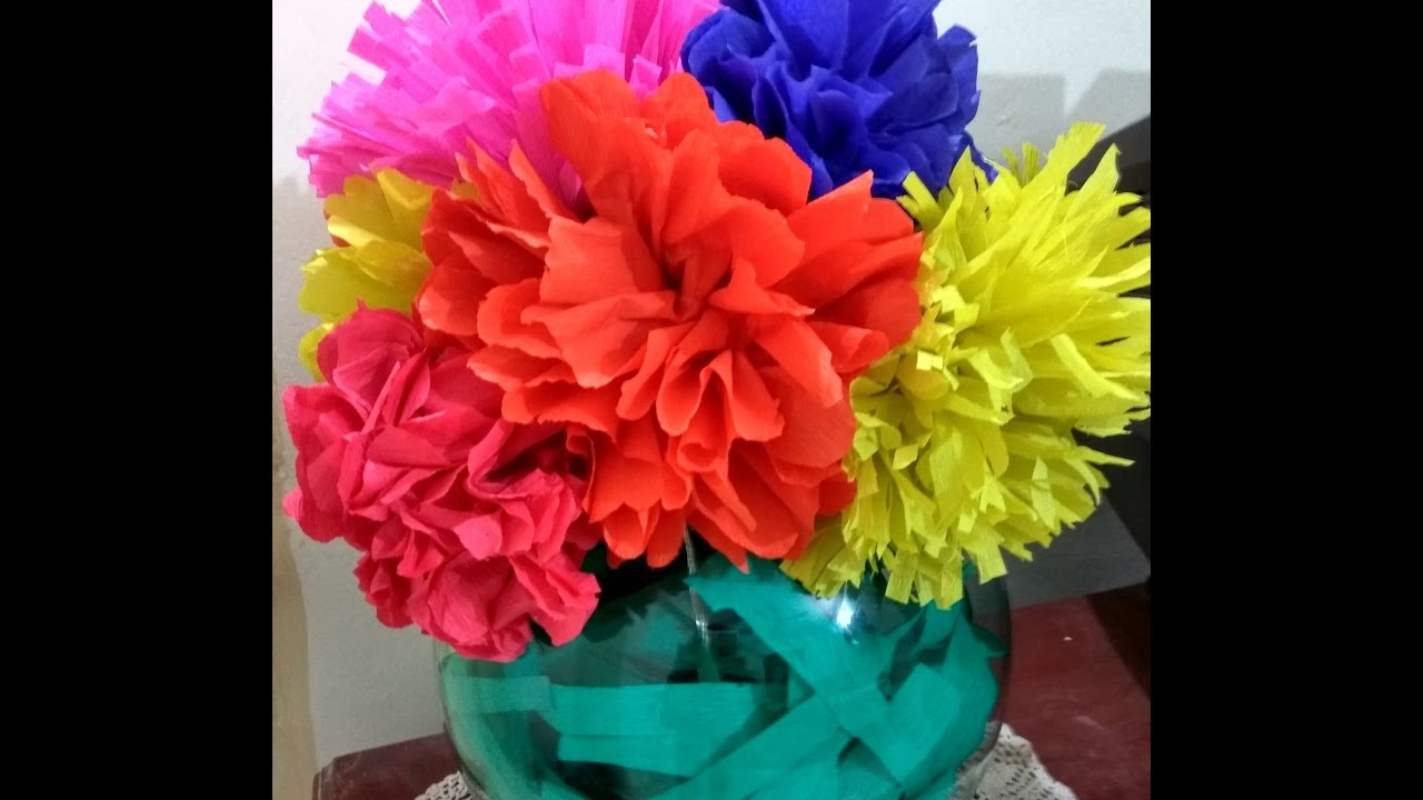 How To Make Crepe Paper Flowers Diy Step By Step Youtube