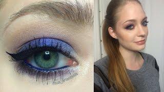 Фиолетовые смоки / Макияж для карих и зеленых глаз: видео-урок