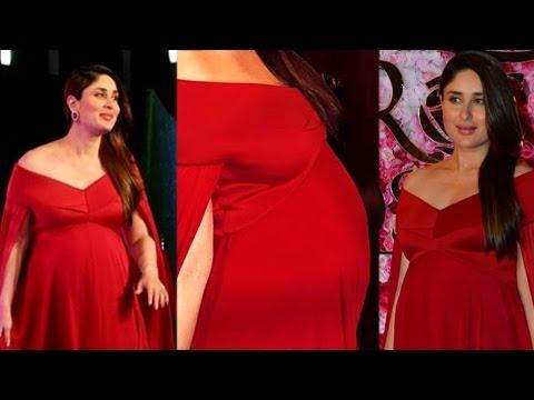 be19cbb1aee Kareena Kapoor 8 Months Baby Bump Look At LUX Golden Rose Awards ...