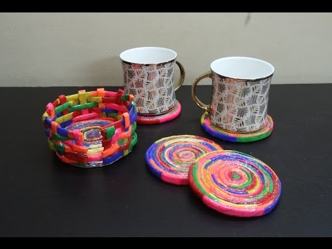 Paper Crafts: Upcycle: DIY Tea Coasters