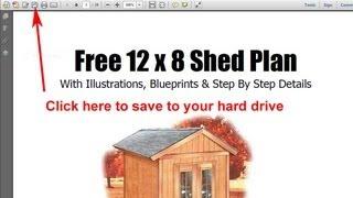 Free 8x12 Garden Storage Shed Plans