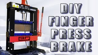 How To Build a Finger Press Brake on a Budget! (No Welding Required!)