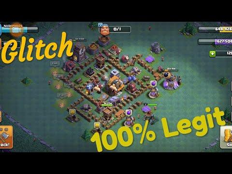 Clash of clans (Glitch 100% Real Legit!)