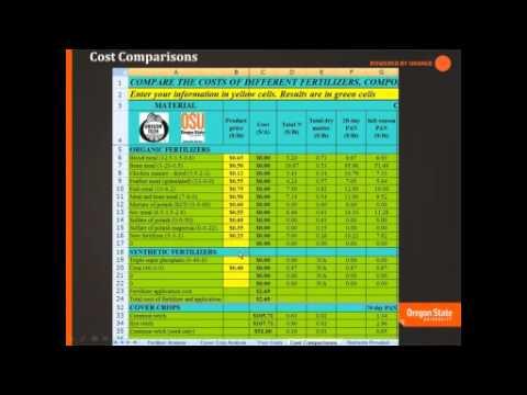 Estimating Cover Crop Nitrogen and Choosing Organic Fertilizers for Your Farm