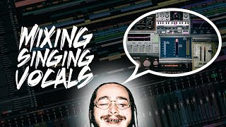 Mixing Post Malone Type Vocals | Mixing Singing Rap Vocals Tutorial Video