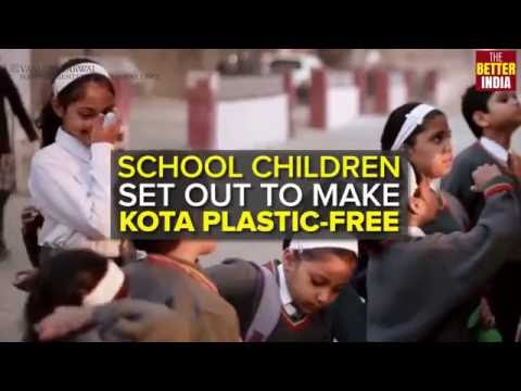 School students are working towards a plastic-free Kota