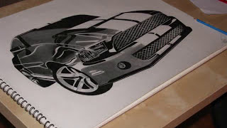 AMAZING Pencil Drawing(Ford Mustang Shelby GT500)