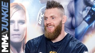 Emil Meek backstage interview at UFC 219