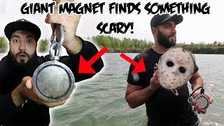 Download I FOUND SOMETHING SCARY WHILE MAGNET FISHING WITH A GIANT MAGNET! Mp3 and Videos