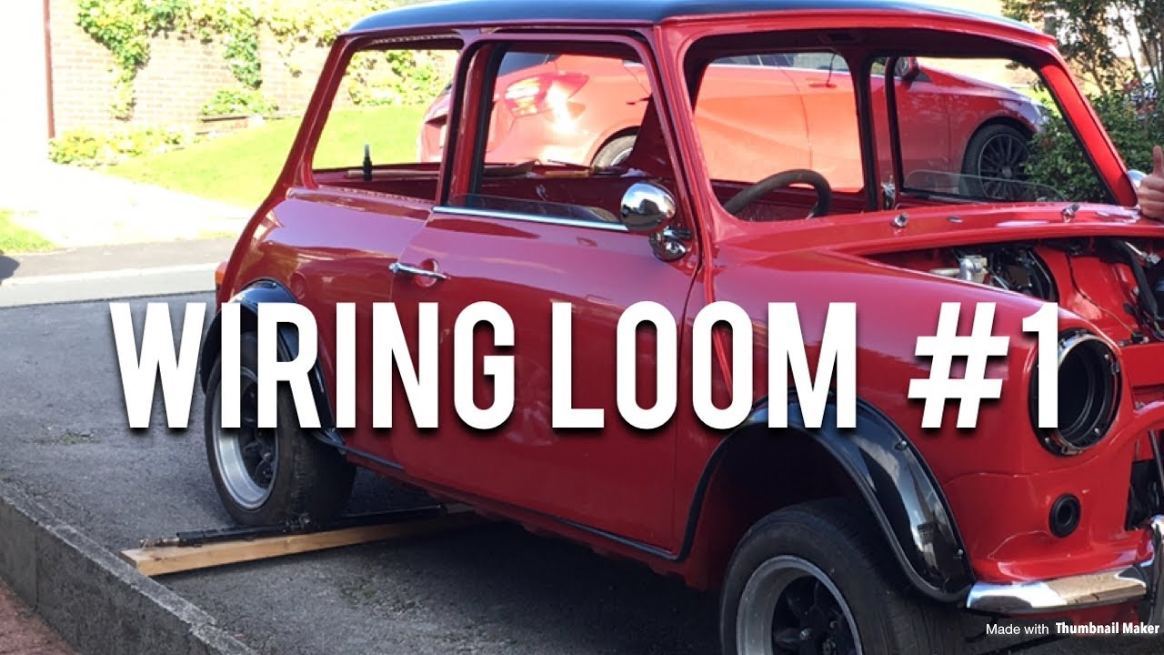 small resolution of classic mini restoration wiring loom part 1