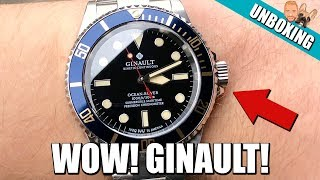 WOW! Ginault Ocean Rover [181070GSLID] Rolex Submariner Homage - Unboxing