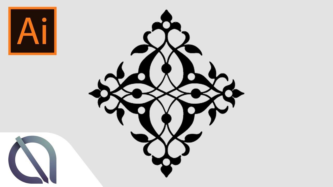 Symmetry In Design real time mirror effect (symmetry) - tutorial - illustrator - youtube