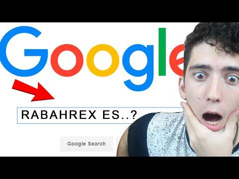 Me BUSCO en GOOGLE y Me tienen Investigado - Rabahrex