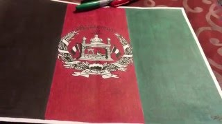 Afghanistan flag drawing