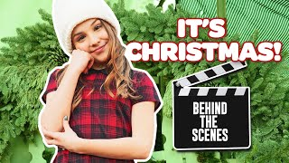 """BEHIND THE SCENES of My Music Video """"It's Christmas!"""" 🎄🎬 