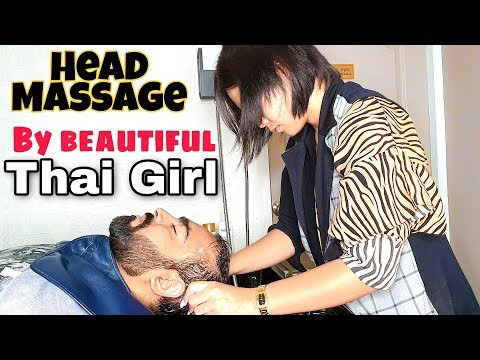 ASMR Head Massage & Thai Head Wash by Thai Girl | Thai Femal Barber