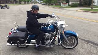 2006 Harley Davidson Road King Classic FLHRCI (blue) 2192 Fallen Cycles