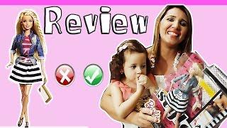 Review de Brinquedos - Boneca Barbie style Luxo 2015 Toda articulada - em breve novelinha da Barbie