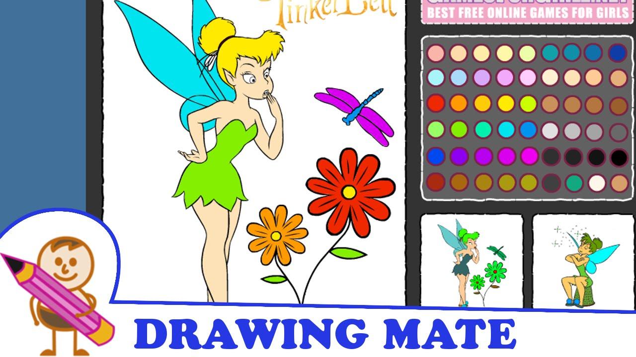 Tinkerbell colouring in online - Tinkerbell Coloring Pages Colouring Book Game Kolorowanki Malowanki Gry Dla Dzieci Dzwoneczek