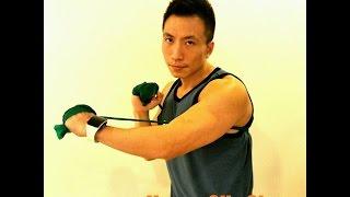 在家中橡筋帶訓練全身肌肉Thera band Training