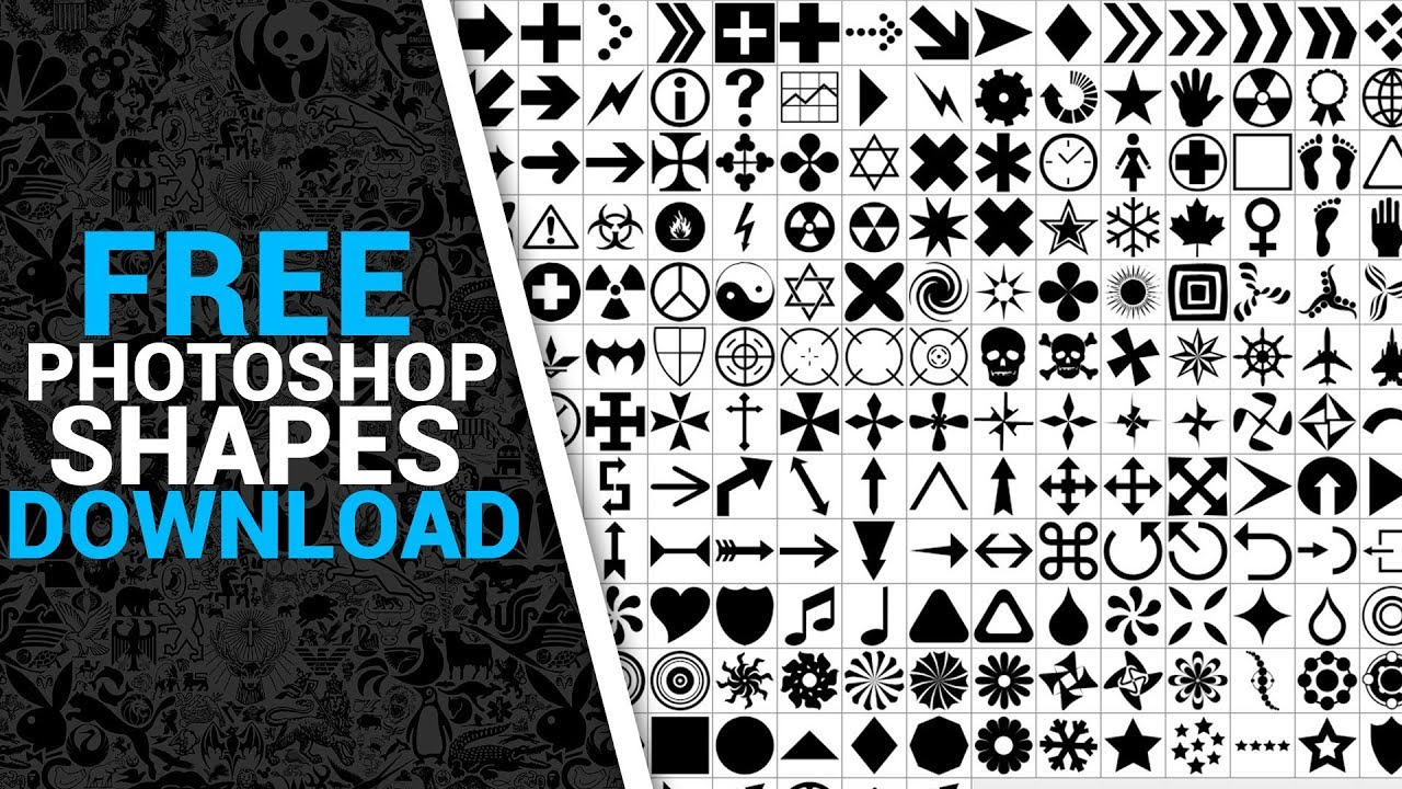 custom shapes for photoshop cs5 free download