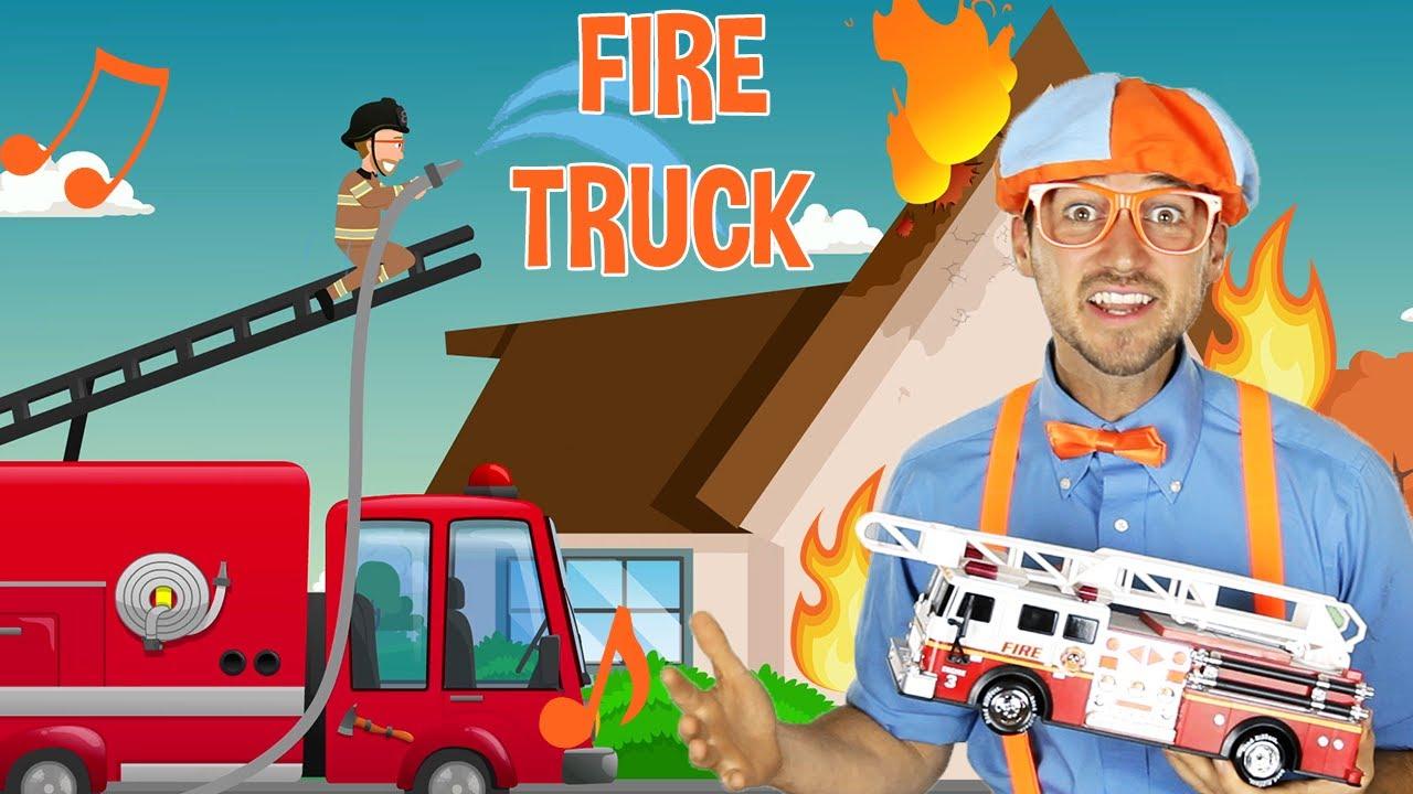 Blippi Super Fire Truck song - Trucks For Kids | Educational Videos For Toddlers | Blippi Songs