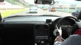 セントラルサーキットで開催されたピットロードM走行会の模擬レースの車...