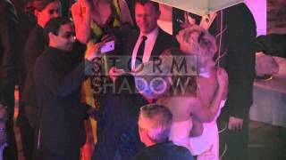 EXCLUSIVE: Pamela Anderson coming out of her Foundation party in Cannes