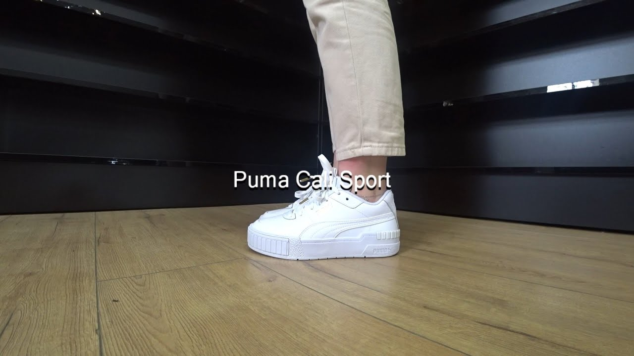 Puma Cali Sport 373871-01 (White) Onfeet Review   sneakers.by