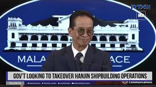 Gov't looking to takeover Hanjin shipbuilding operations