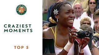 Top 5 Craziest Moments - Roland-Garros