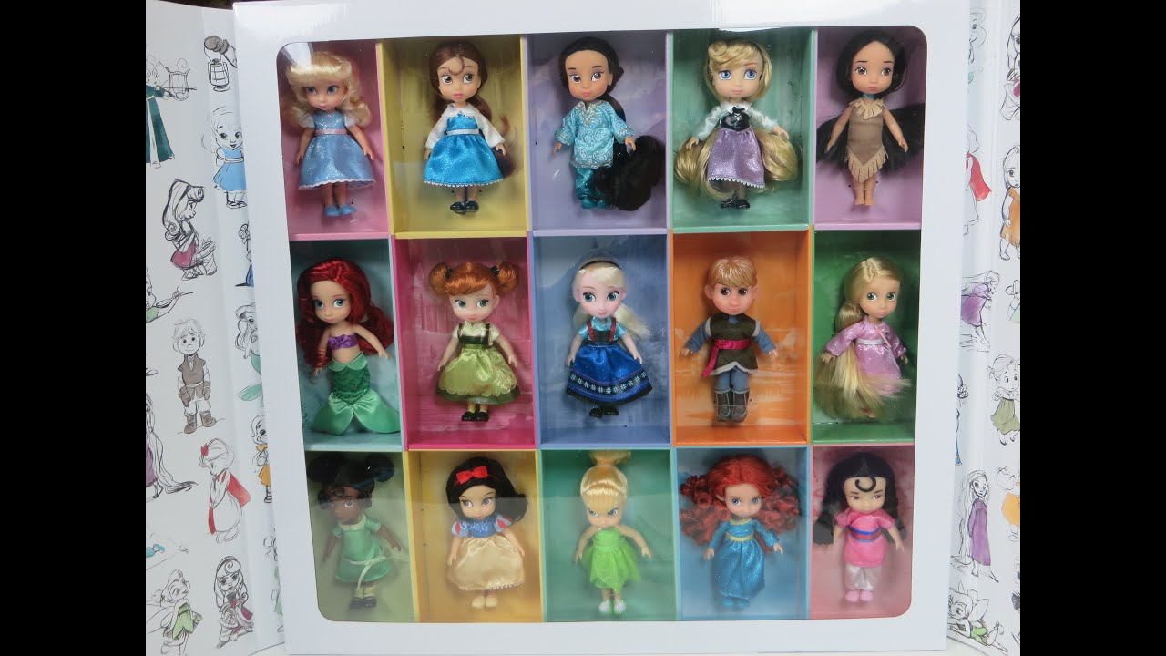 RARE 15 Disney Animators' Collection Mini Disney Princess ...