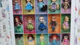 RARE 15 Disney Animators' Collection Mini Disney Princess Doll Gift Set 5'' Ariel Cinderella Tiana