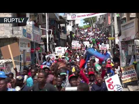 Budget (not) approved: Teargas & arrests at rally against Haitian govt.