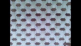 №26. Плетение плотного полотна из ленты лозы . (Плетение из лозы -Wickerwork)