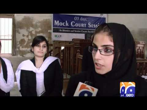 Legal Rights Forum Mock Corut Session at Karachi on GEO T.V