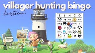 villager hunt bingo | animal crossing livestream