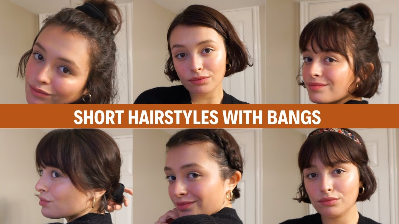 Short Hairstyles With Bangs Youtube