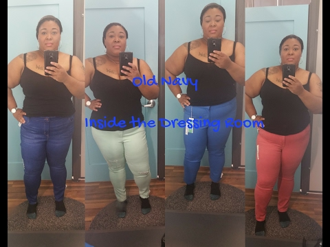 OLD NAVY JEANS ~ PLUS SIZE|| Inside the Dressing Room