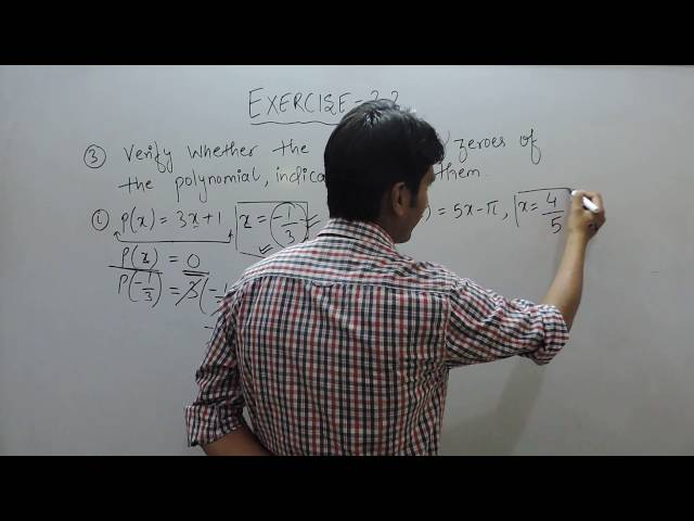 Exercise 2.2 - Question 3(i, ii) NCERT/CBSE Solution for Class 9th Maths Polynomials